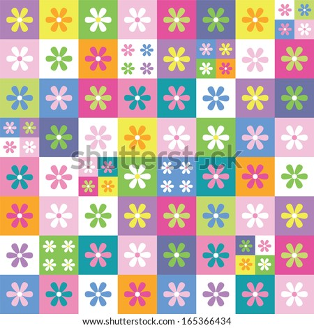 colorful flowers collection background - stock photo