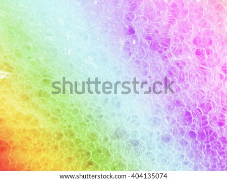 colorful foam color bubble water clean abstract background - stock photo