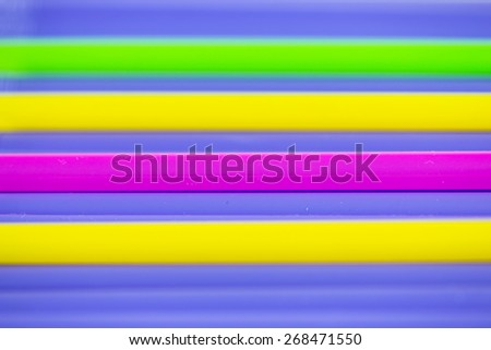 colorful focus at pink of drinking straw background - stock photo
