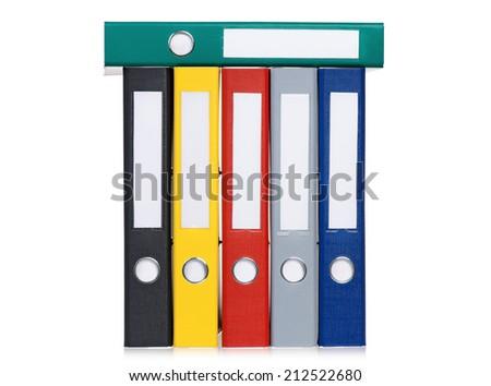Colorful folders - stock photo