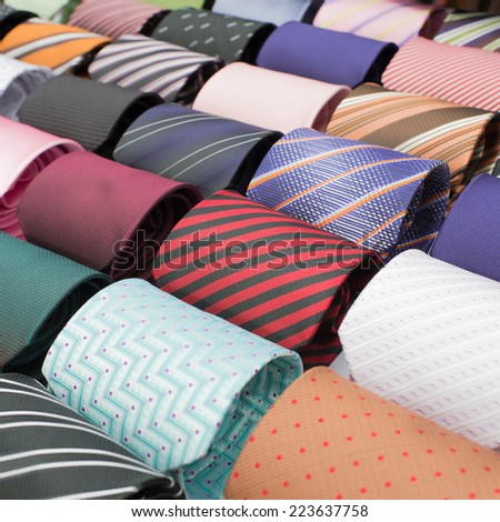 Colorful for Neckties Set  - stock photo