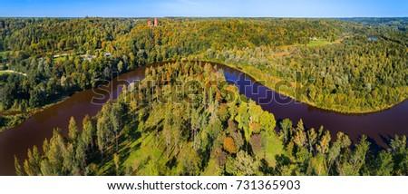 latvian autumn forest river - photo #24