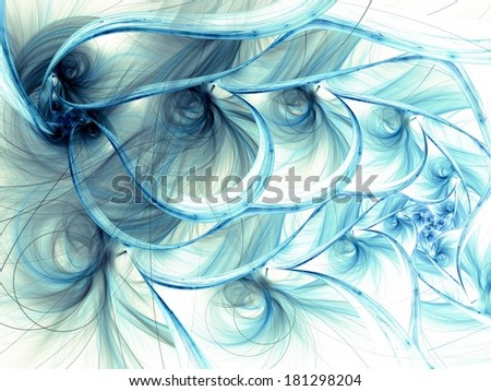 Colorful fractal flower pattern, digital artwork creative  - stock photo