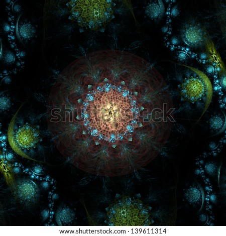 Colorful fractal image for background