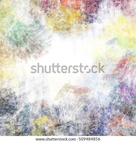 Colorful Framed Grunge Background Texture Stock Illustration ...