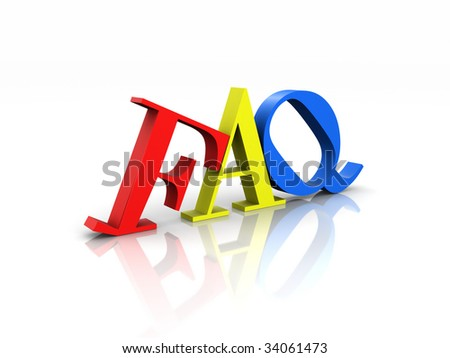 Colorful Frequently Asked Questions - stock photo