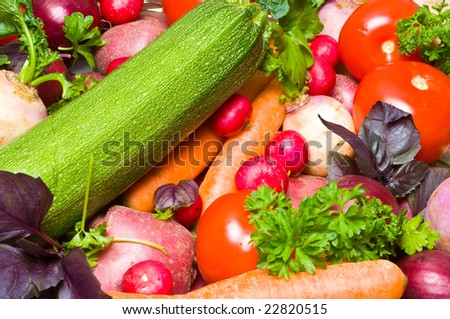 colorful fresh beautiful vegetables.