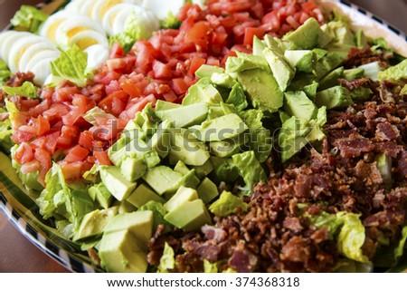 Colorful, fresh Cobb Salad - stock photo