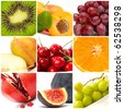 colorful fruit collage - stock photo