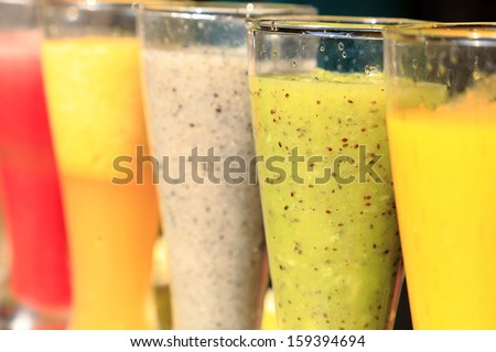 Colorful fruit drinkings - stock photo