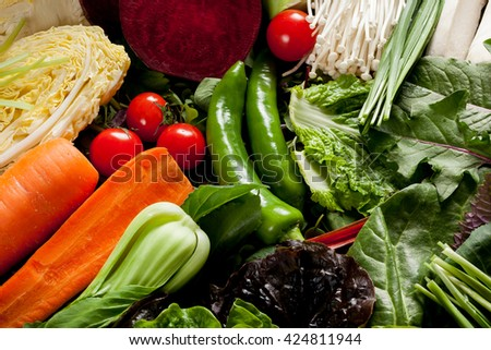 Colorful Fruits and Vegetable background
