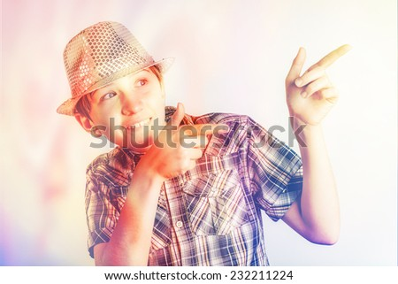 colorful funny boy - stock photo