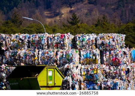 colorful garbage in Austria - stock photo