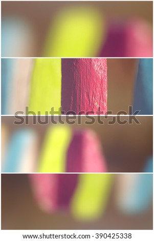 Colorful garden fence - 4 divider - stock photo
