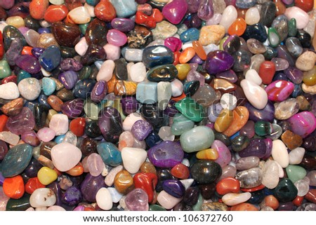 Colorful gems - stock photo