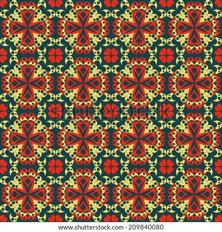 Colorful geometric pattern seamless. Arabesque style