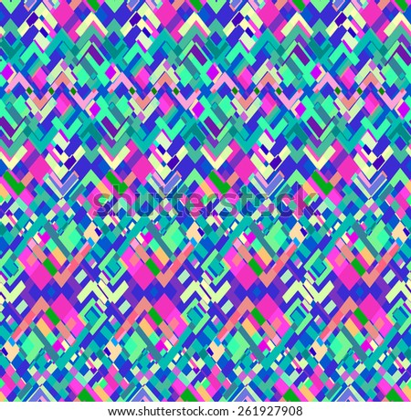 Colorful geometric  ~ seamless background - stock photo