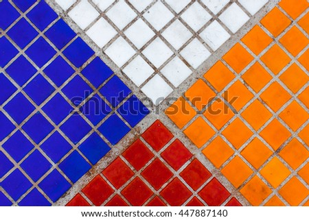 colorful geometric texture tiles pattern. Can be used for design, websites, interior, background, backdrop, texture creation, the use of graphic editors and illustration.