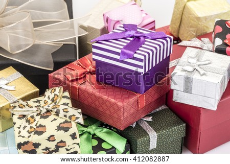 colorful gift boxes as a background
