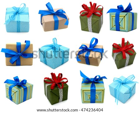 colorful gift boxes, isolated with space for your text