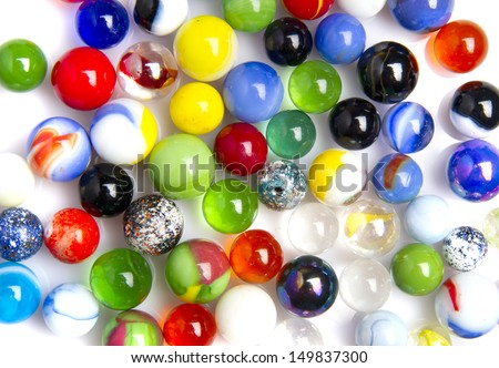 colorful glass balls - stock photo
