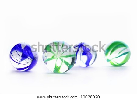 Colorful glass balls on white - stock photo