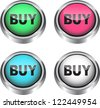 Colorful glossy web elements for ecommerce - stock photo