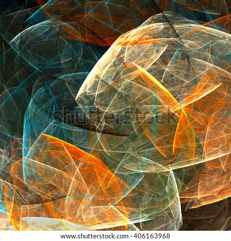 Colorful glowing abstract pattern, fractal for background - stock photo