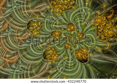 Colorful glowing pattern, abstract art for background - stock photo