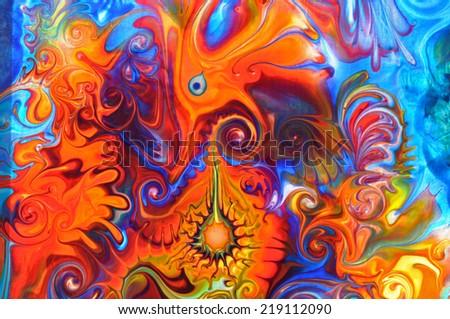 Colorful graffiti background - stock photo
