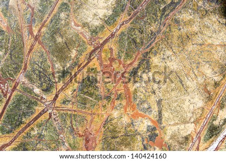 Colorful granite slab - closeup background and texture - stock photo