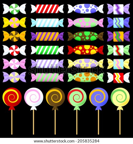 Colorful Graphic Wrapped Candy - Raster - stock photo