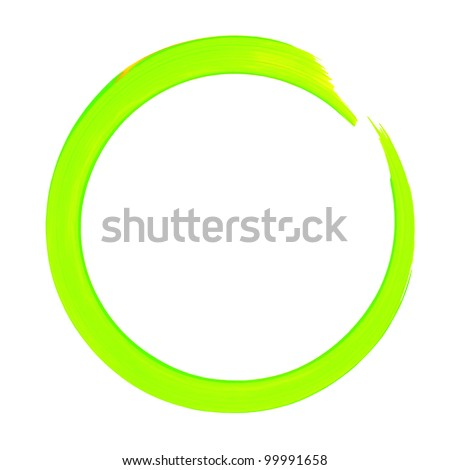 Colorful Green Circle Line Abstract Paint illustration