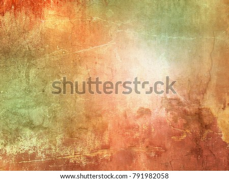 Colorful grunge background orange green - abstract nature texture