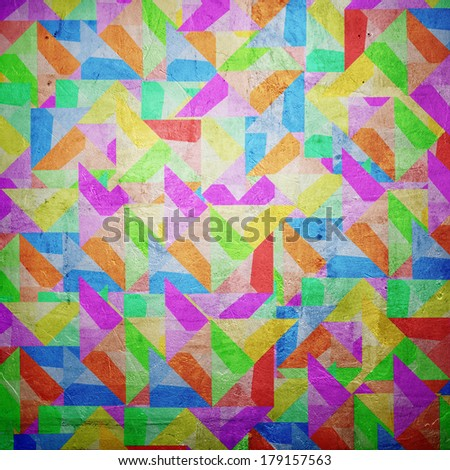 Colorful grunge wall background with colorful irregular shapes