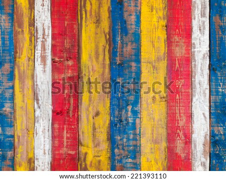 Colorful grungy wooden wall. Seamless background photo texture - stock photo