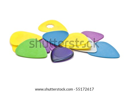 Colorful guitar picks - stock photo