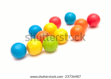 Colorful gumballs. - stock photo