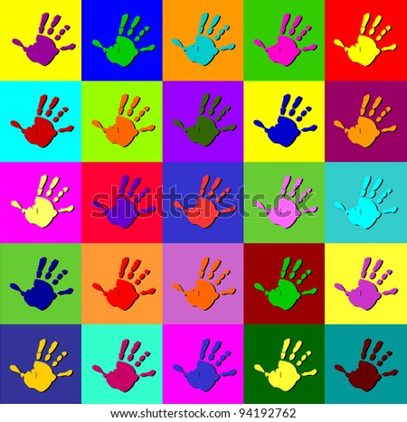 Colorful hand background