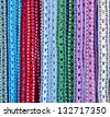 Colorful handcrafted belts with beads - stock photo