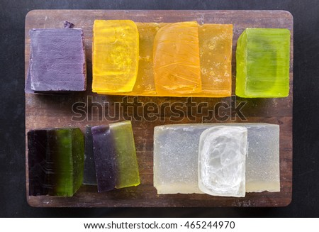 Colorful handmade soap