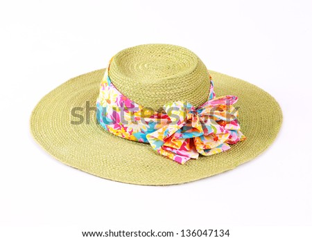 colorful hat for summer