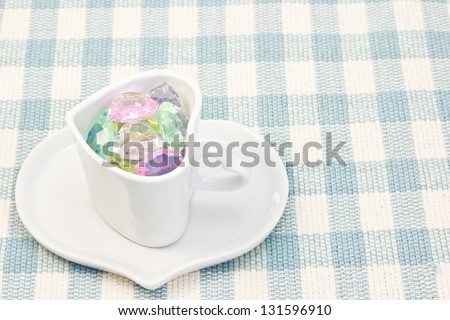 colorful heart in a cup