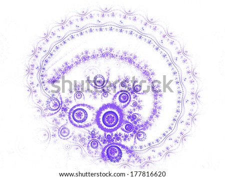 colorful heart pattern on white - stock photo