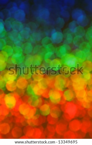 Colorful hexagon background in rainbow colors