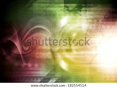 Colorful hi-tech wavy grunge background