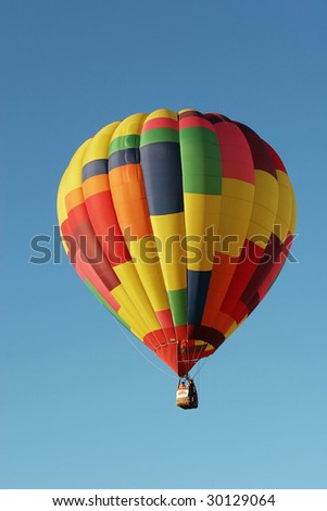 Colorful hot air balloon at the festival
