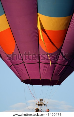 Colorful hot air balloon - early morning - stock photo
