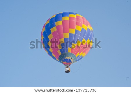 colorful hot air balloon in blue sky