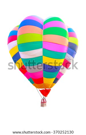 colorful hot air balloon isolate on white background with clipping path - stock photo